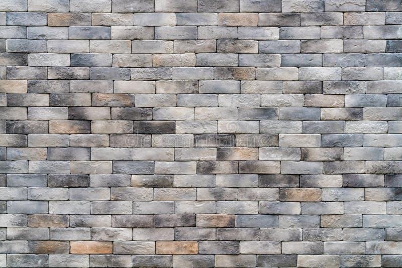 Szary ściana z cegieł obrazy royalty free
