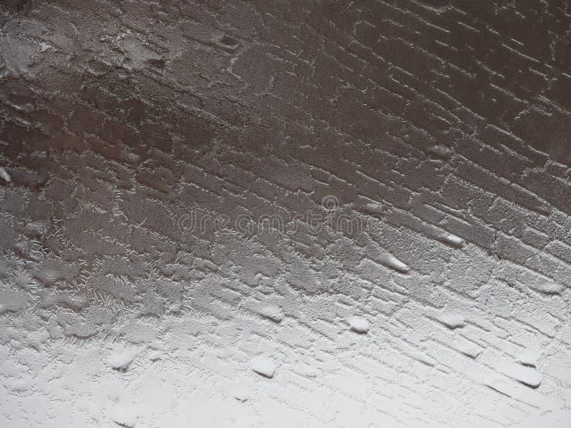 Szary abstrakta wzór od Mroźnego okno zdjęcia stock