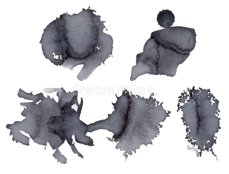 Szary akwarela punkt ilustracja wektor