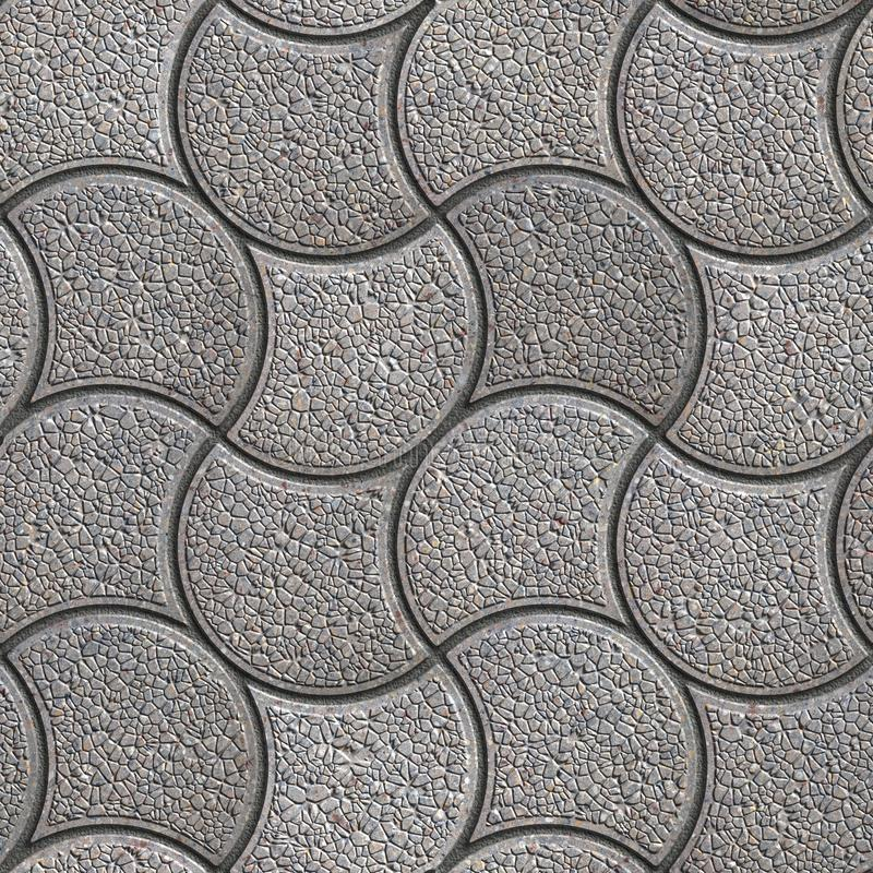 Szary Brukowy kamień w Falistej formie fotografia royalty free