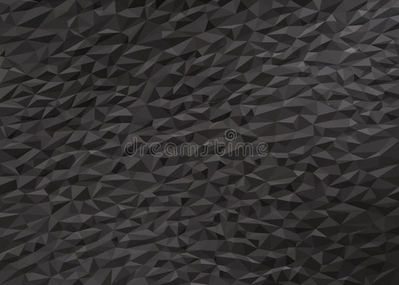 Szary czarny niski poli- tło zdjęcie stock