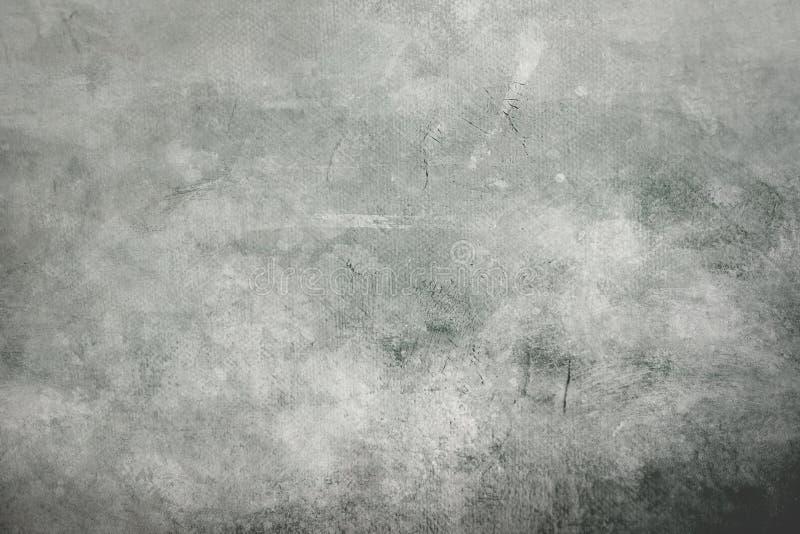 Szary grungy brezentowy tło lub tekstura z ciemną winietą graniczymy zdjęcia royalty free