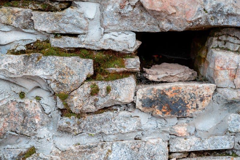 Szary kolor nowożytnego stylowego projekta kamiennej ściany dekoracyjna nierówna krakingowa istna powierzchnia z cementem zdjęcia royalty free