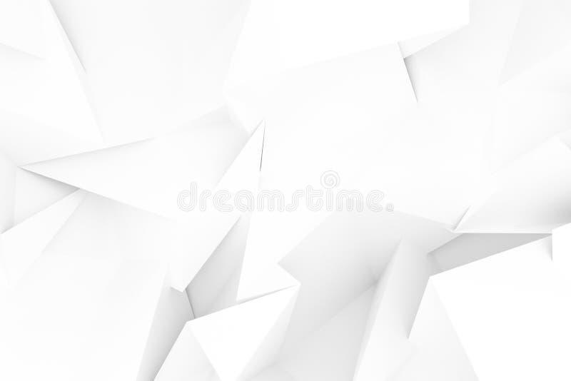 Szary lub czarny i biały b&w abstrakta CGI, przypadkowy geometryczny tło Tapeta dla graficznego projekta 3 d czyni? ilustracja wektor