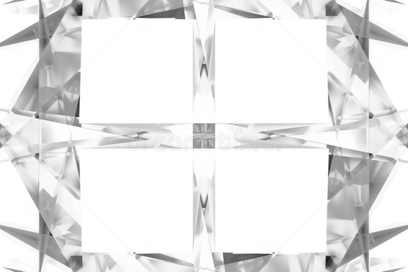 Szary lub czarny i biały b&w CGI, przypadkowy geometryczny, tło dla projekt tekstury, tło 3 d czyni? ilustracja wektor