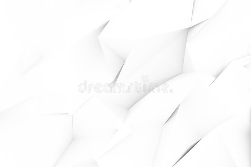 Szary lub czarny i bia?y b&w Dekoracyjny, ilustracji CGI, przypadkowy geometryczny t?o dla projekt tekstury t?a, 3 d czyni? royalty ilustracja