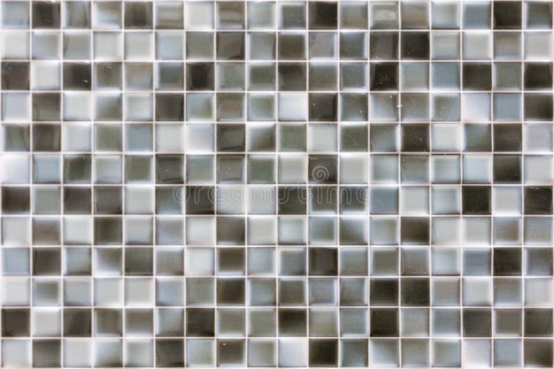 Szary mozaiki tło Srebnych cekinów Bezszwowy tło Abstrakcjonistyczny bezszwowy mozaiki tło zdjęcie royalty free