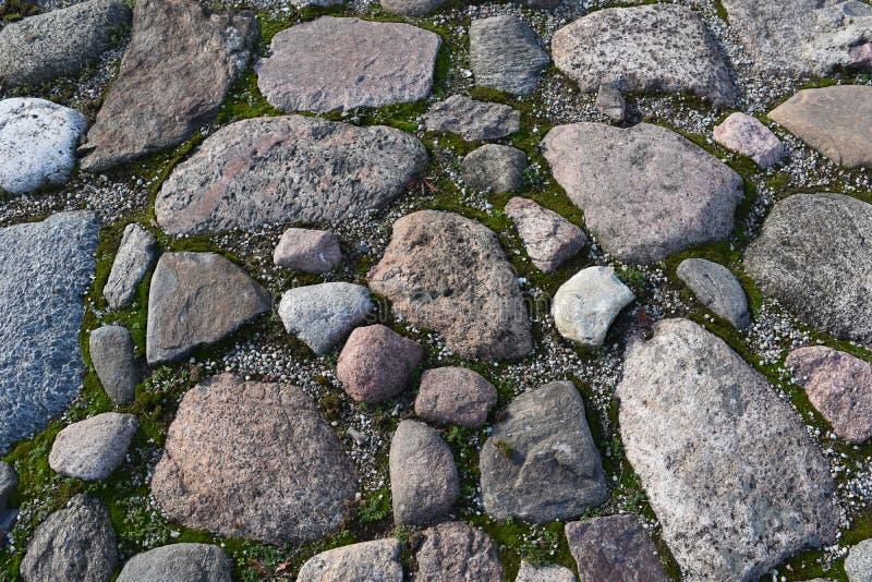 Szary Nieregularny granit skały brukowanie fotografia royalty free