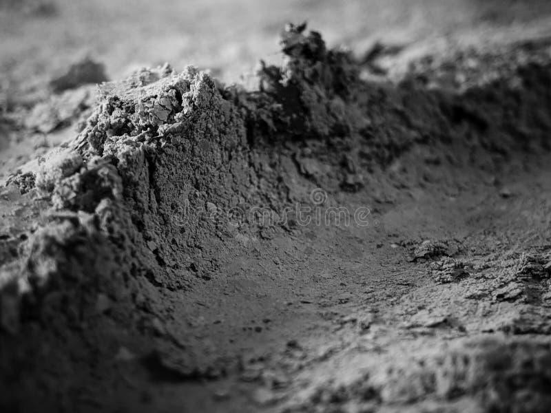 Szary popiół od piekarnika tła tekstury, żużel, popielaci popióły od papieru fotografia stock