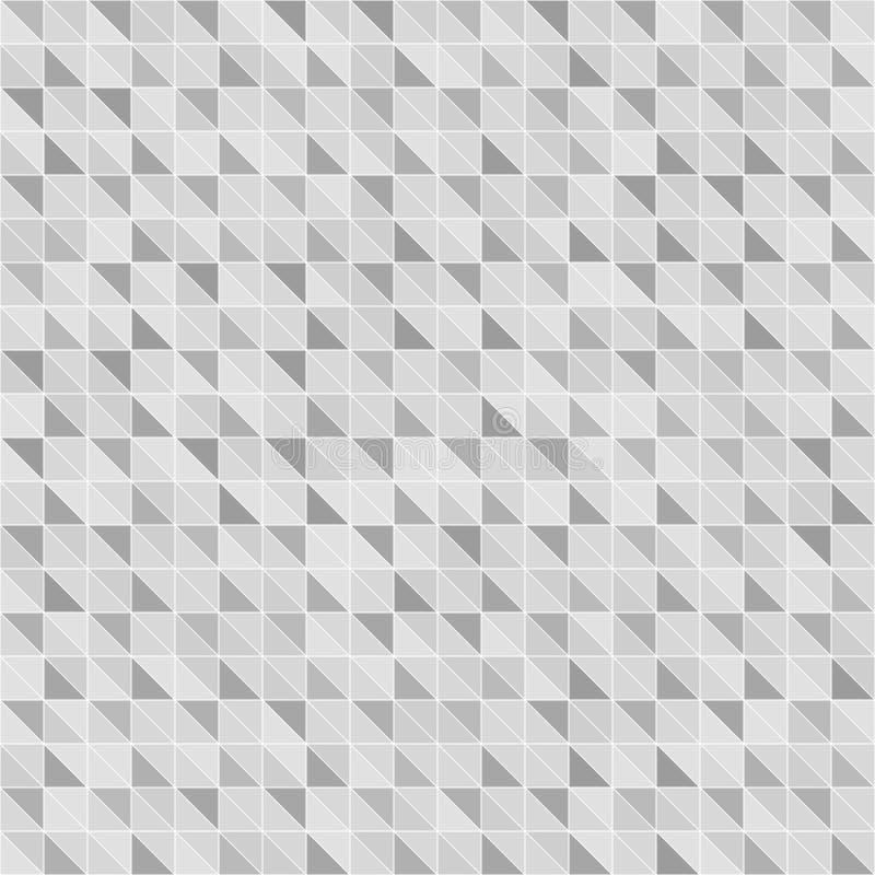 Szary prawego trójboka wzór Bezszwowy wektorowy geometryczny backgroun royalty ilustracja