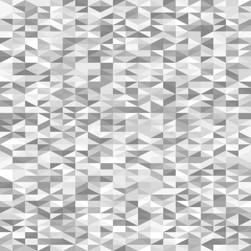 Szary prawego trójboka wzór tło bezszwowy wektora ilustracja wektor
