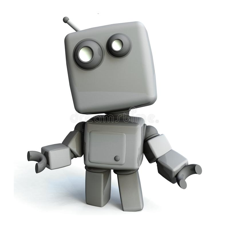 szary robot ilustracji