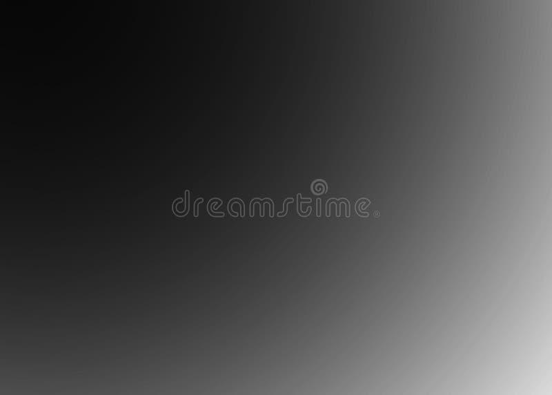 Szary tło abstrakt - Pusty jasnopopielaty zamazany tło z promieniowy gradientowy czarny i biały royalty ilustracja