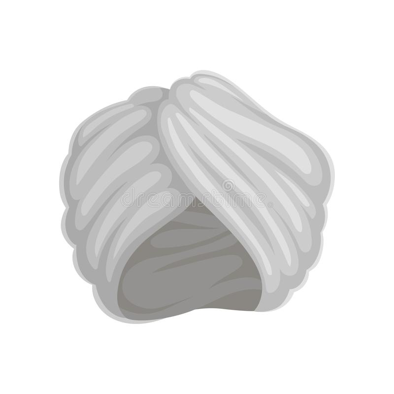 Szary turban t?a ilustracyjny rekinu wektoru biel royalty ilustracja