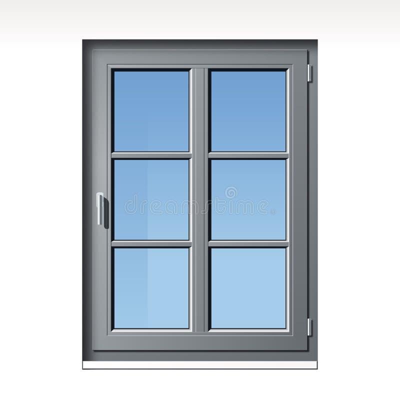 Szary wektorowy okno royalty ilustracja