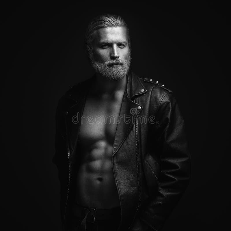 Szary z włosami mężczyzna portret fotografia stock