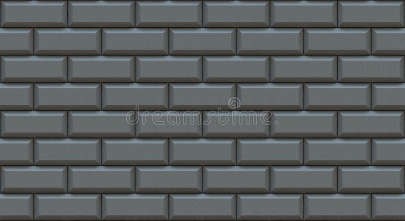 Szarzy ściana z cegieł prostokąty z żłobiącą krawędzią t?o pusty Rocznik stonewall Izbowy projekta wn?trze ilustracja wektor