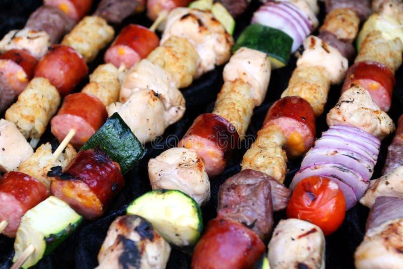 szaszłyki grillów fotografia royalty free