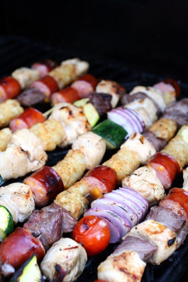 szaszłyki grillów zdjęcia royalty free
