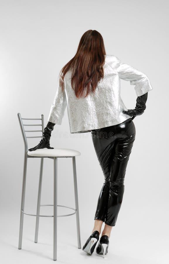 szaty dziewczyny tyły olśniewający widok zdjęcia stock