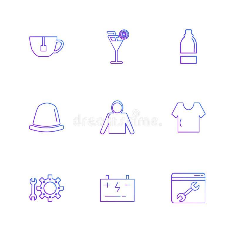szaty, płótna, odzież, suknia, eps ikony ustawiają wektor ilustracji