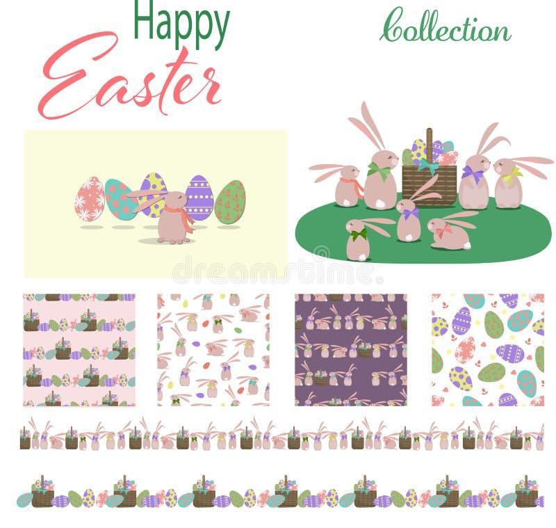 Szczęśliwa Wielkanocna kolekcja ilustracji