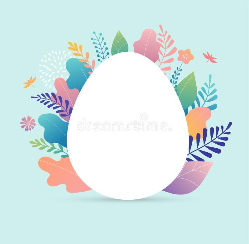 Szczęśliwa Wielkanocna wektorowa ilustracja, kartka z pozdrowieniami, plakat royalty ilustracja