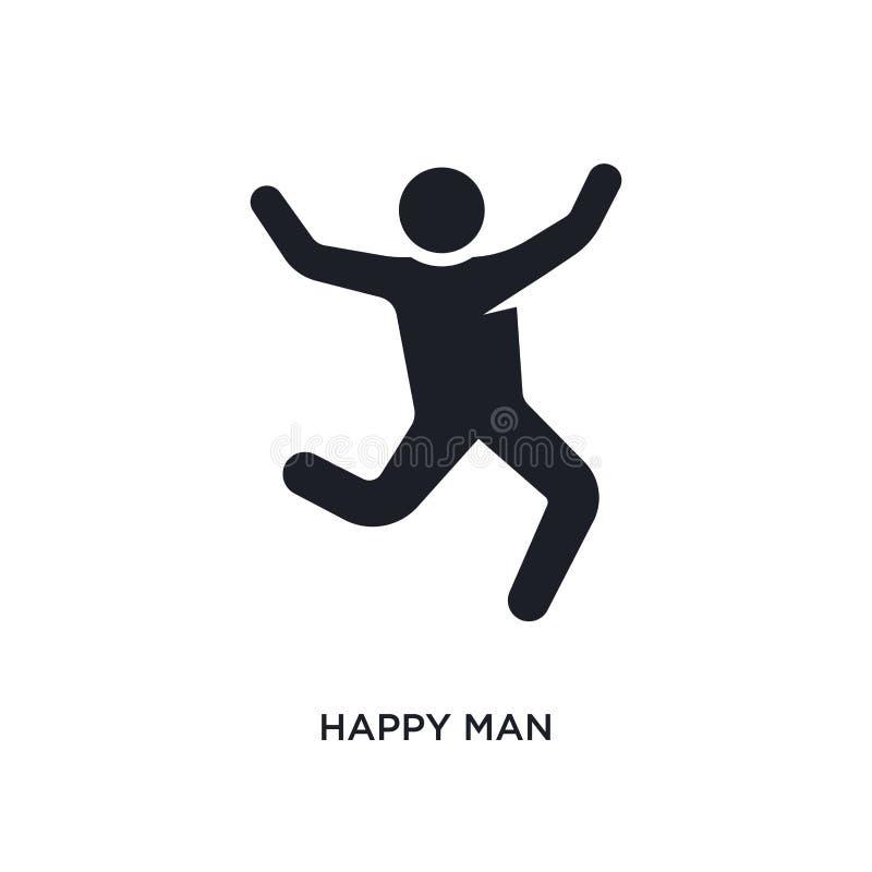 szczęśliwego mężczyzny odosobniona ikona prosta element ilustracja od istoty ludzkiej pojęcia ikon szczęśliwego mężczyzny logo zn ilustracja wektor