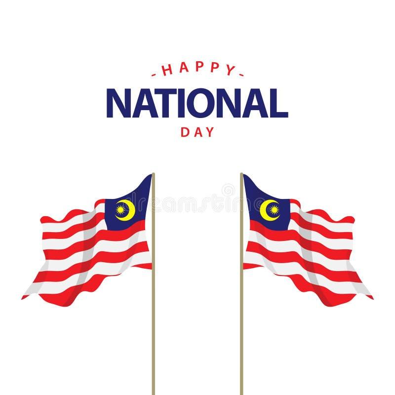 Szczęśliwego Malezja święta państwowego szablonu projekta Wektorowa ilustracja royalty ilustracja