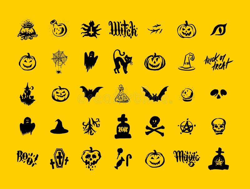 Szczęśliwej Halloweenowej czarownicy tła wektoru Dyniowa ilustracja Halloweenowy Płaski projekt ilustracja wektor