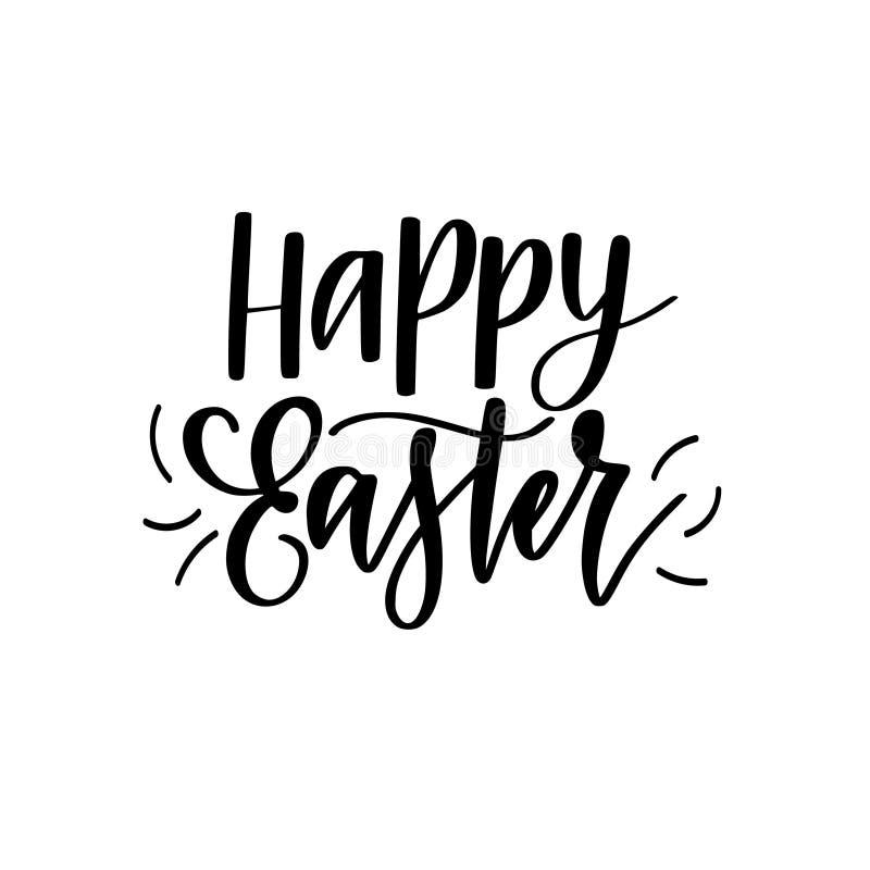 Szczęśliwej Wielkanocnej wektorowej cyfrowej szczotkarskiej kaligrafii Chrześcijańskiej wiosny wakacyjny projekt royalty ilustracja