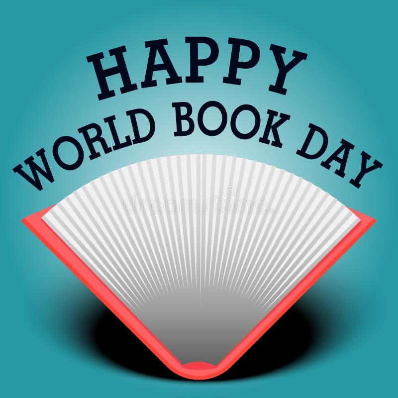 Szczęśliwy świat książki dnia tło fotografia royalty free