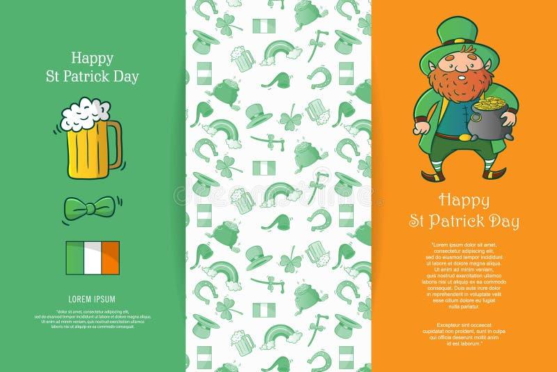 Szczęśliwy St Patrick dzień ilustracji
