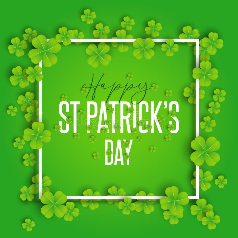 Szczęśliwy St Patrick ` s dnia tło ilustracja wektor