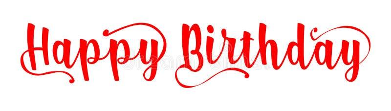 szczęśliwy urodziny Urodzinowy sztandaru wektor Wszystkiego najlepszego z okazji urodzin literowanie ilustracji