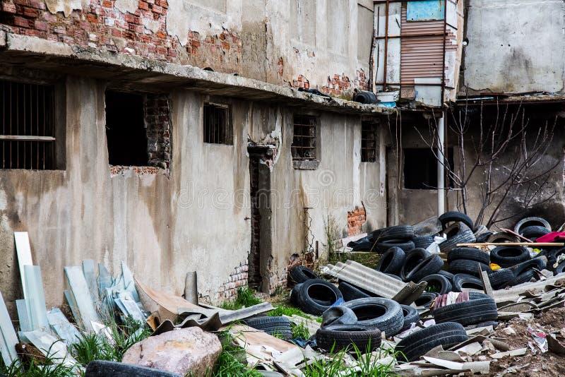 Szczątki Deconstruction teren zdjęcie royalty free