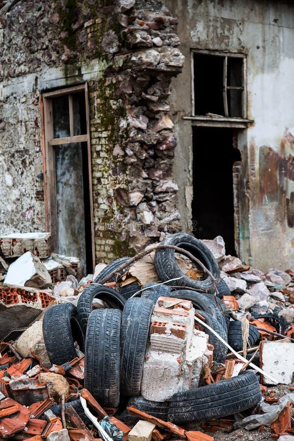 Szczątki Deconstruction teren fotografia stock