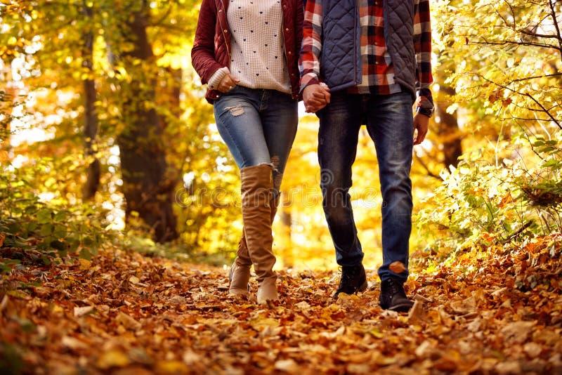 Szczęście i radość w parku - dobiera się w miłości obraz stock