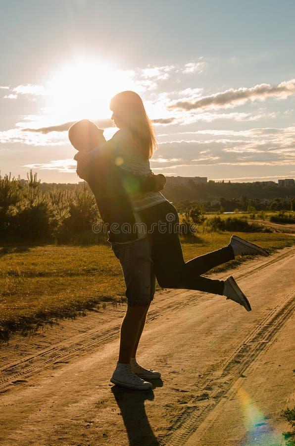 Szczęście i romantyczna scena obrazy royalty free