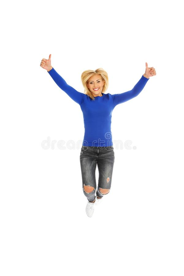 Szczęście i wolność - skaczący obrazy royalty free