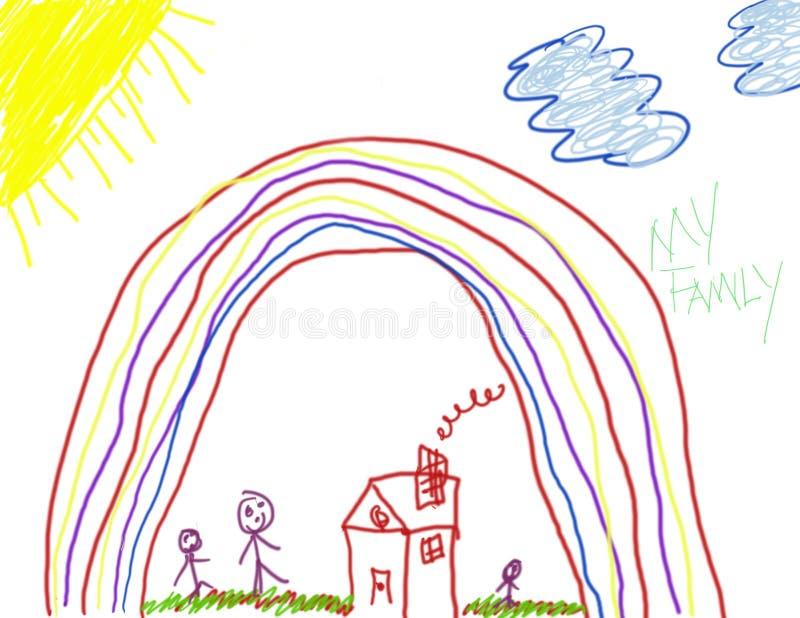 szczęście jest rysunek dziecka ilustracji