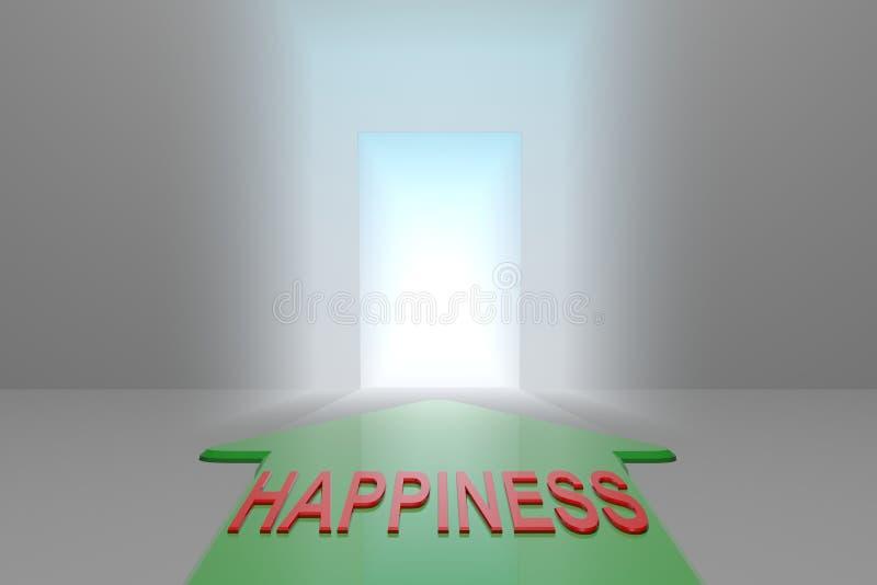 Szczęście otwarta brama ilustracji