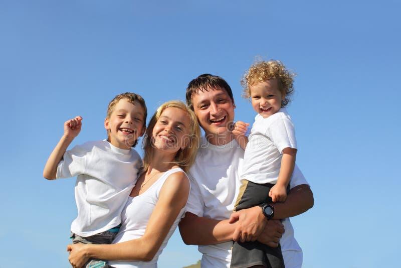 szczęście piękne rodzinne serie obrazy stock