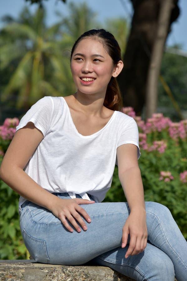 Szczęśliwa Ładna osoba zdjęcie royalty free