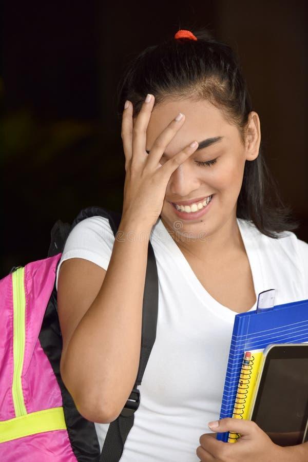 Szczęśliwa Śliczna Mniejszościowa osoba Z notatnikami zdjęcie royalty free