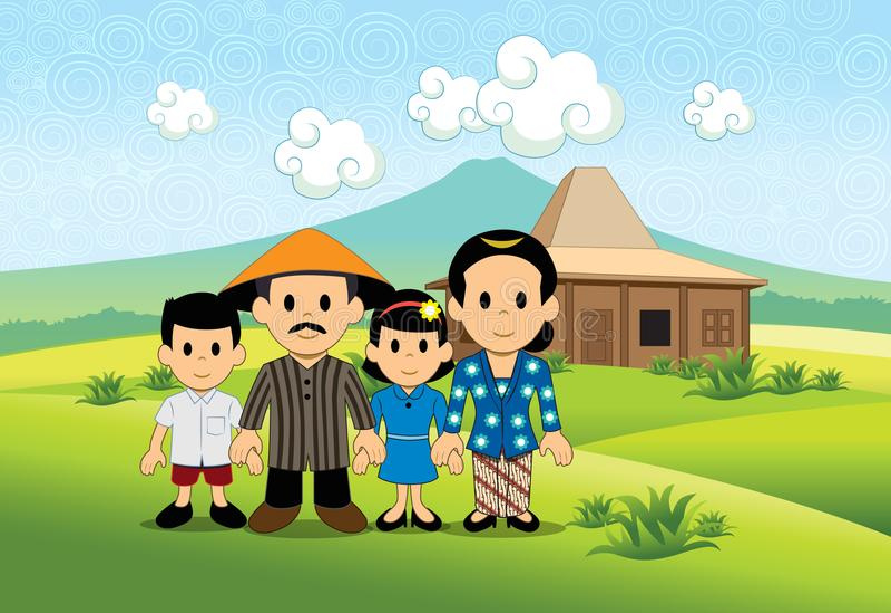 Szczęśliwa Średniorolna ` s rodzina ilustracja wektor