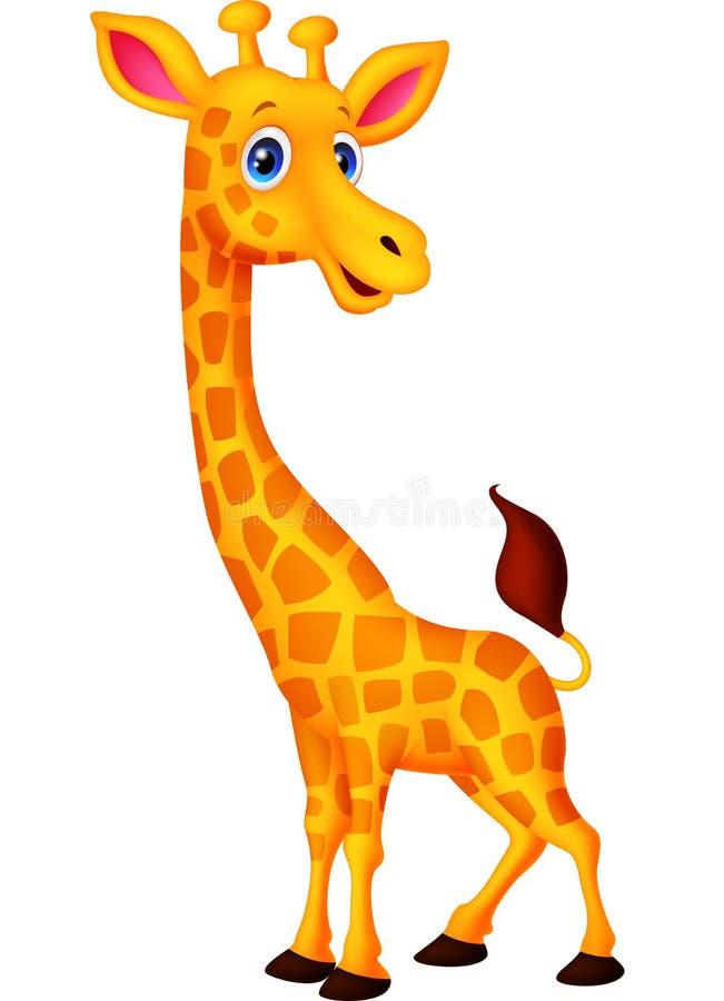 Szczęśliwa żyrafy kreskówka ilustracja wektor