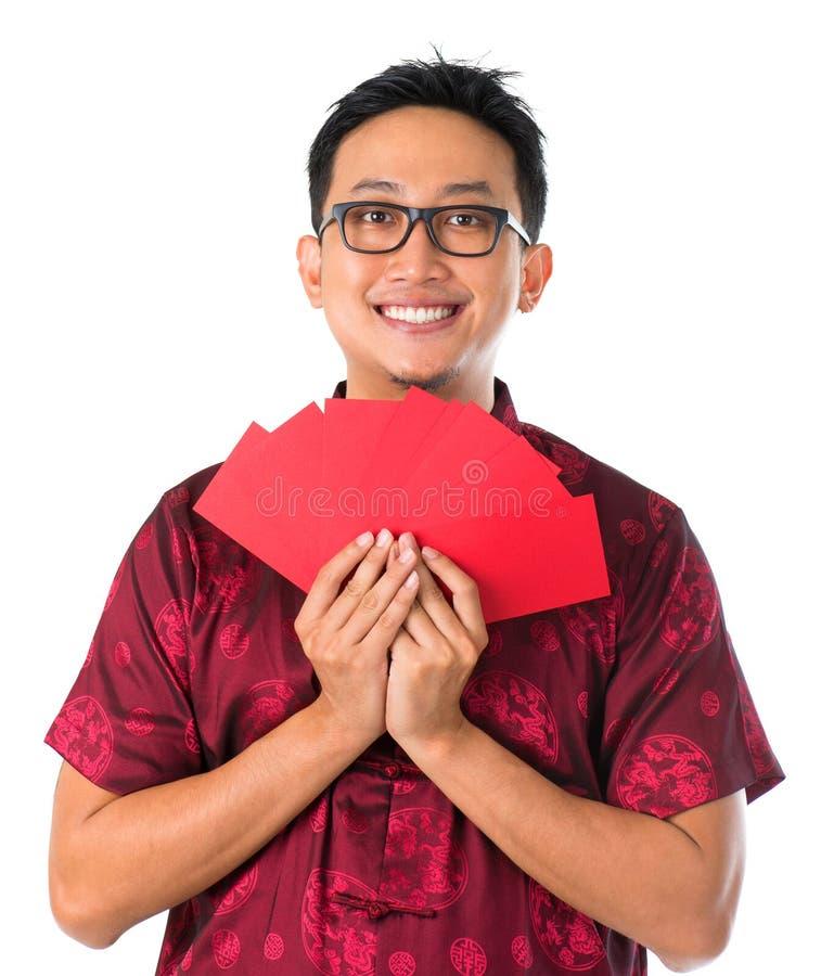 Szczęśliwa Azji Południowo Wschodniej Chińska samiec obraz stock