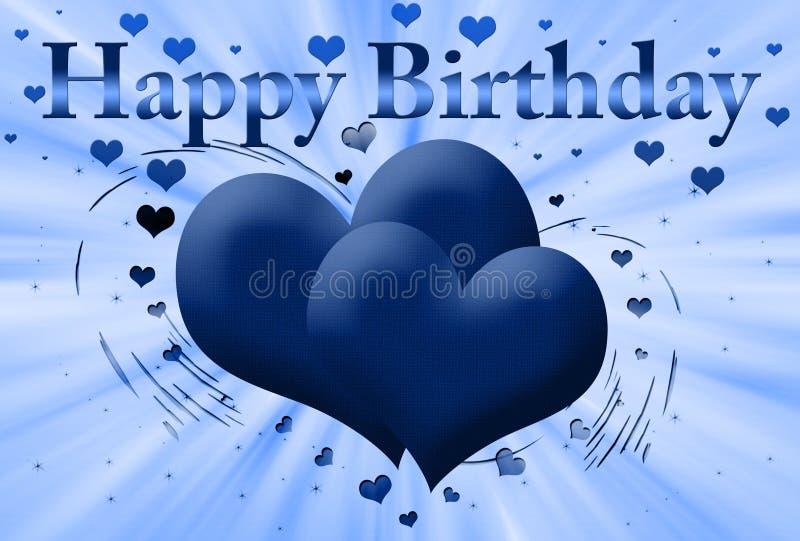 szczęśliwa błękit urodzinowa karta royalty ilustracja