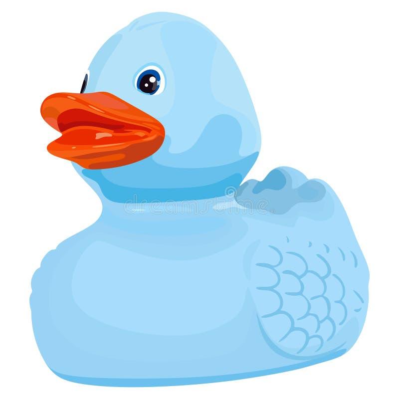 Szczęśliwa błękitna kaczka royalty ilustracja
